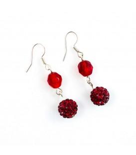 Červený plesový náhrdelník