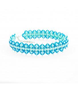 Korálky Janka náhrdelník tyrkysový široký