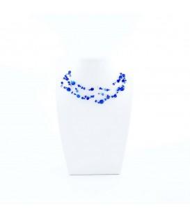 Korálky Janka náhrdelník tmavě modrá motanice