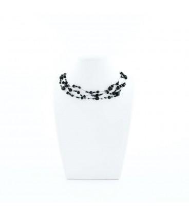 Korálky Janka náhrdelník černá motanice