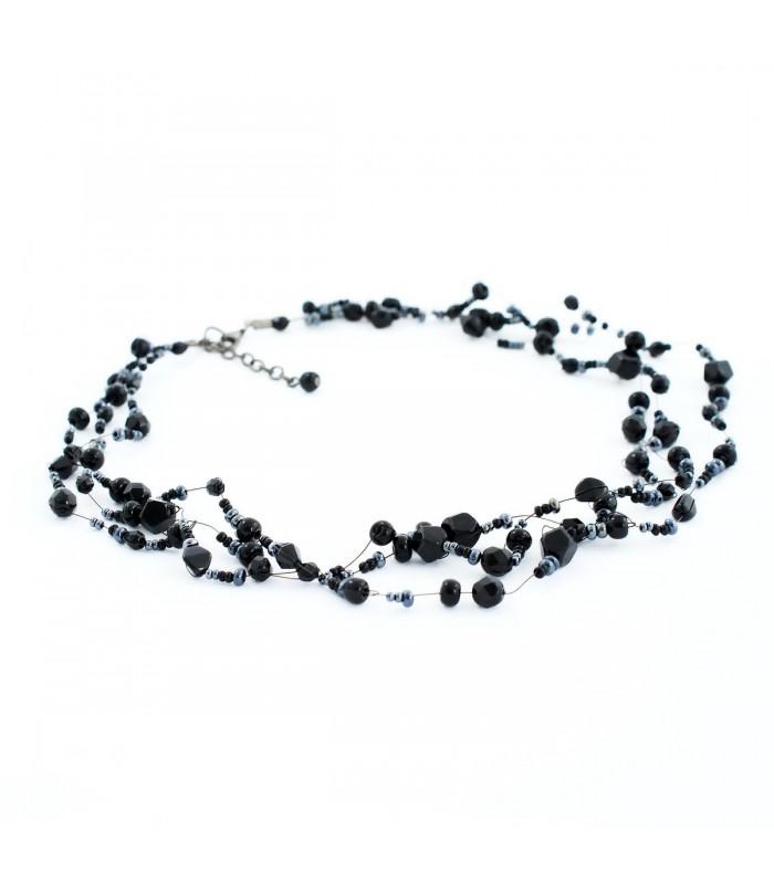 ab02dd4f3 Korálky Janka náhrdelník černá motanice