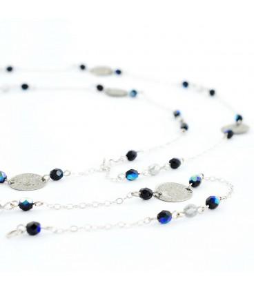 Korálky Janka náhrdelník penízkový modrý