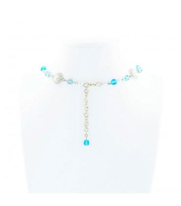 Korálky Janka náhrdelník plesový tyrkysový