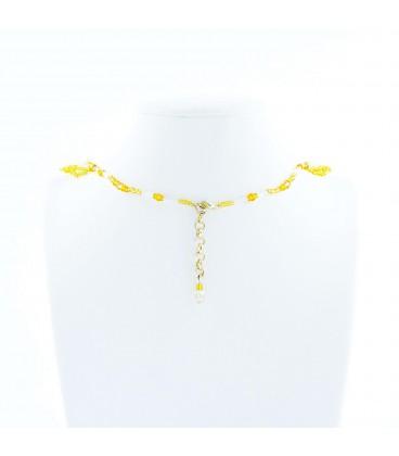 Korálky Janka náhrdelník plesový zlatobílý II