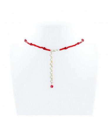 Korálky Janka náhrdelník plesový červený