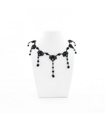 Korálky Janka náhrdelník plesový černý II