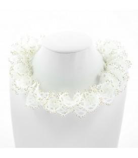 Korálky Janka náhrdelník stříbrnobílá oglala