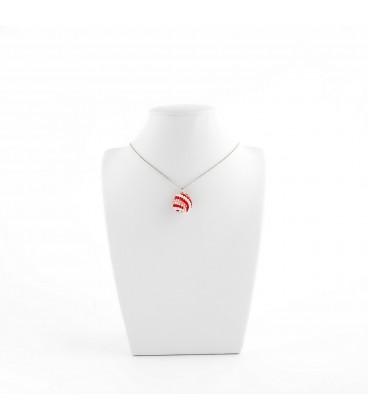 Korálky Janka náhrdelník červenobílá kulička