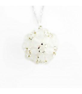 Korálky Janka náhrdelník bílostříbrná kulička