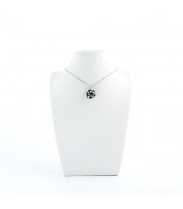 Korálky Janka náhrdelník bíločerná kulička