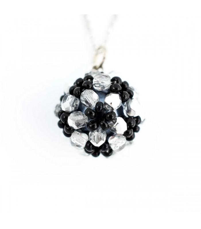 003416505 Korálky Janka náhrdelník bíločerná kulička