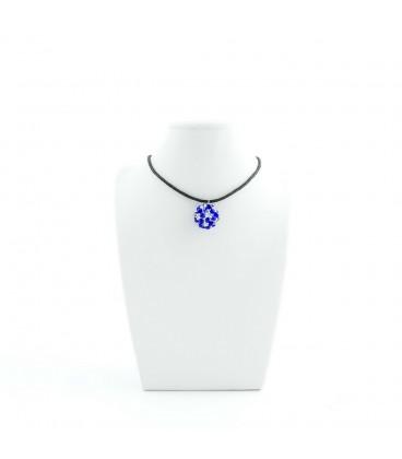 Korálky Janka náhrdelník modrobílá kulička