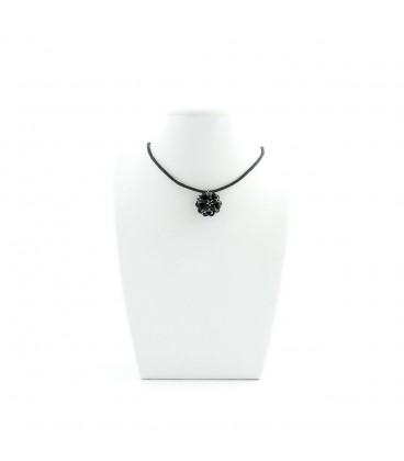 Korálky Janka náhrdelník černostříbrná kulička