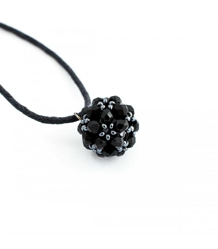 7473443c6 Korálky Janka náhrdelník černostříbrná kulička