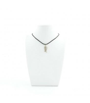 Korálky Janka náhrdelník stříbrná rybyčka