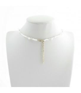 Korálky Janka náhrdelník plesový s krystalem