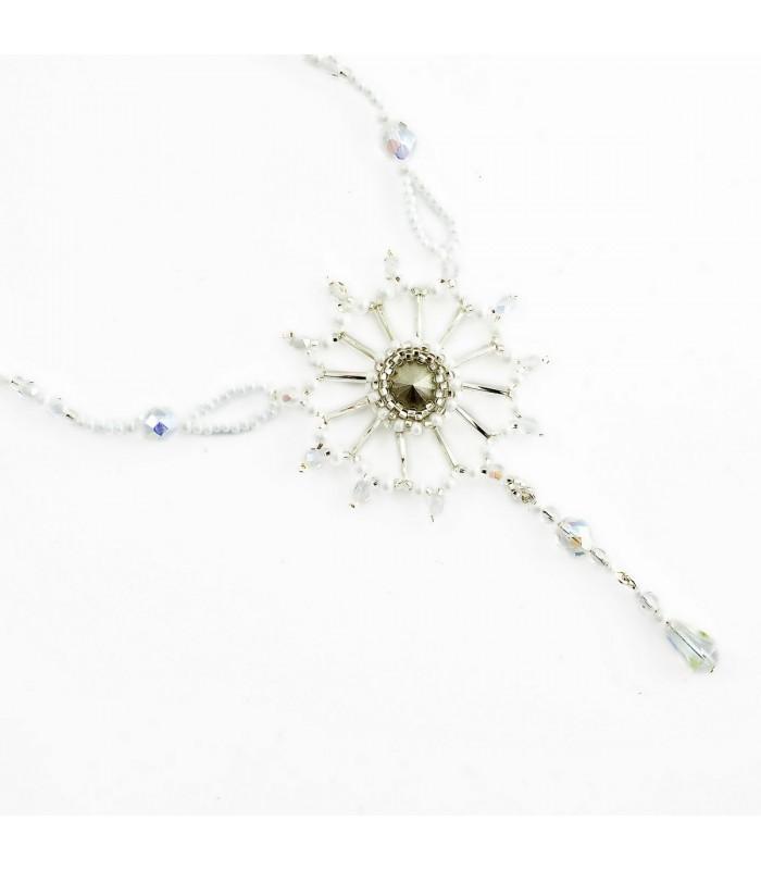 580030509 Korálky Janka náhrdelník plesový s krystalem