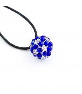 3D hvězda modro bílá - velká