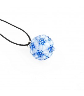 Korálky Janka přívěsek světle modrá kulička