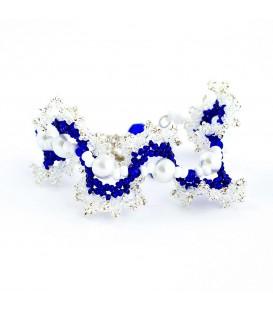 Drátovaný motýl modrý