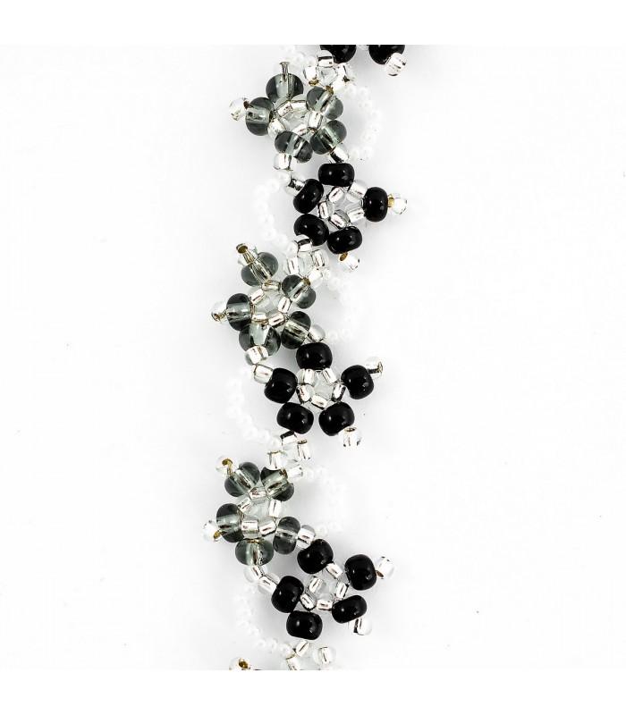 Souprava šperků Korálky Janka zlatý plesový s naušnicemi SP111, Délka náhrdelníku 46cm