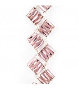 Korálky Janka náramek růžovobílé tyčinky