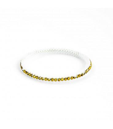 Korálky Janka náramek zlatobílý kruh s ohňovkami