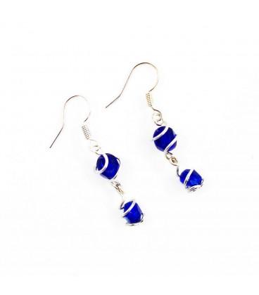 Korálky Janka náušnice světle modré s klíckami