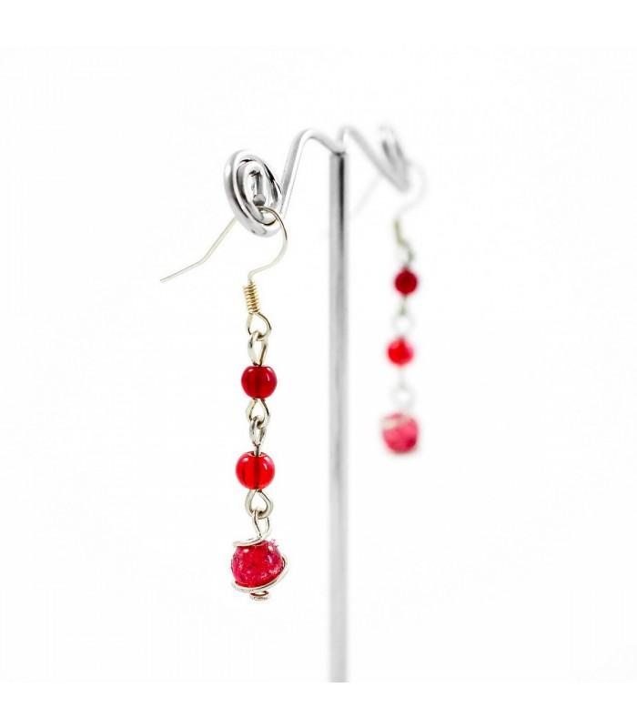Korálky Janka náušnice červené s klíckou 05aa3077e8a